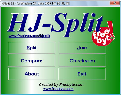 HJSplit Download - Free Software to join and Split Files