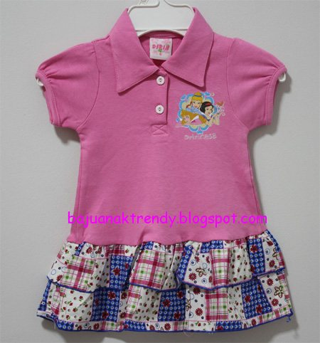 Baju Anak Tas Anak Dress Princess Kerah