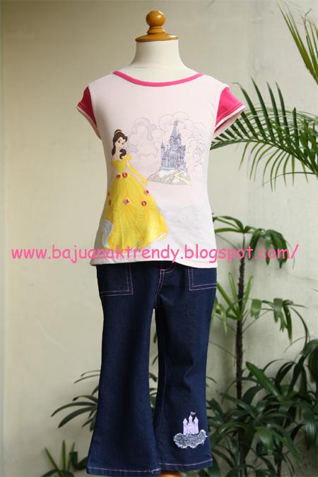 Baju Anak Tas Anak Setelan Princess Pink