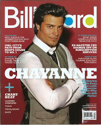 Chayanne en la portada de Billboard (Enero 2010)