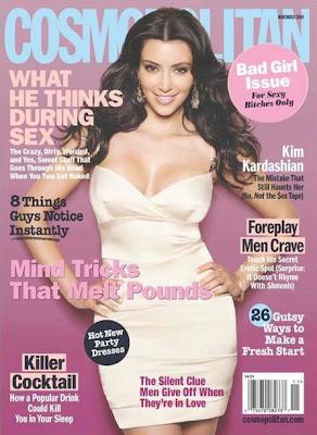 Kim Kardashian en la portada de Cosmopolitan Noviembre 2009