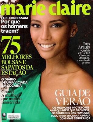 Tais Araujo en la Portada de Marie Claire Brasil (Octubre 2009)