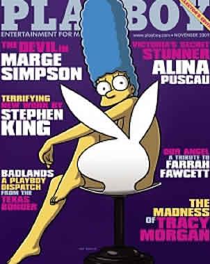 Marge Simpson un éxito en Playboy