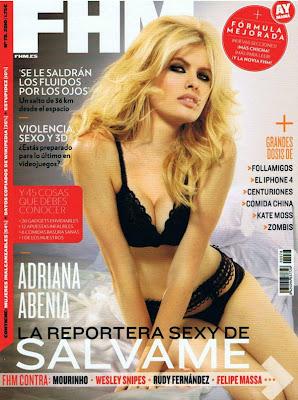 Fotos de Adriana Abenia en la Revista FHM España (Septiembre 2010)