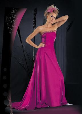Fu�ya Rengi Elbise Modelleri