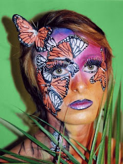 Butterfly Face Body Painting