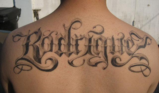 free calligraphy tattoo font. Check out these cool font tattoo designs: