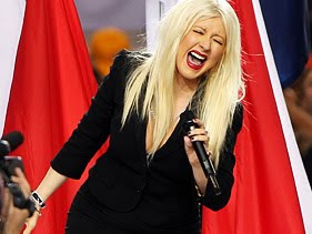 Christina Aguilera National Anthem
