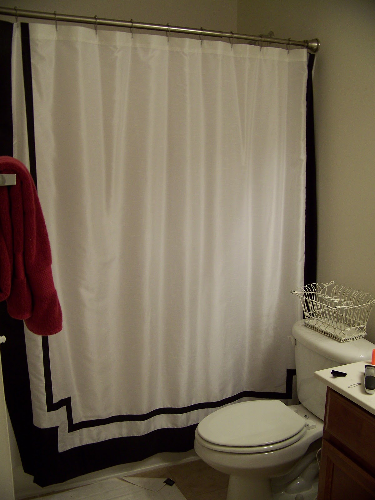 lissalaneous thoughts monogrammed shower curtain