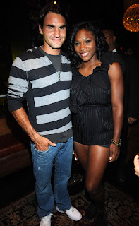 Federer and Serena get friendly