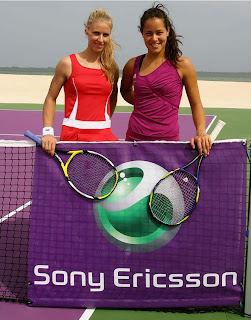 Ana Ivanovic and Elena Dementieva play on a desert island