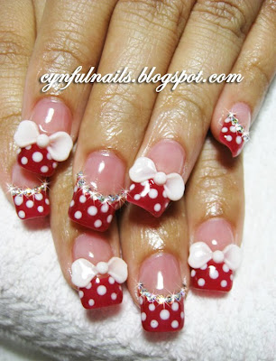 Minnie Mouse Toe Nail Designs