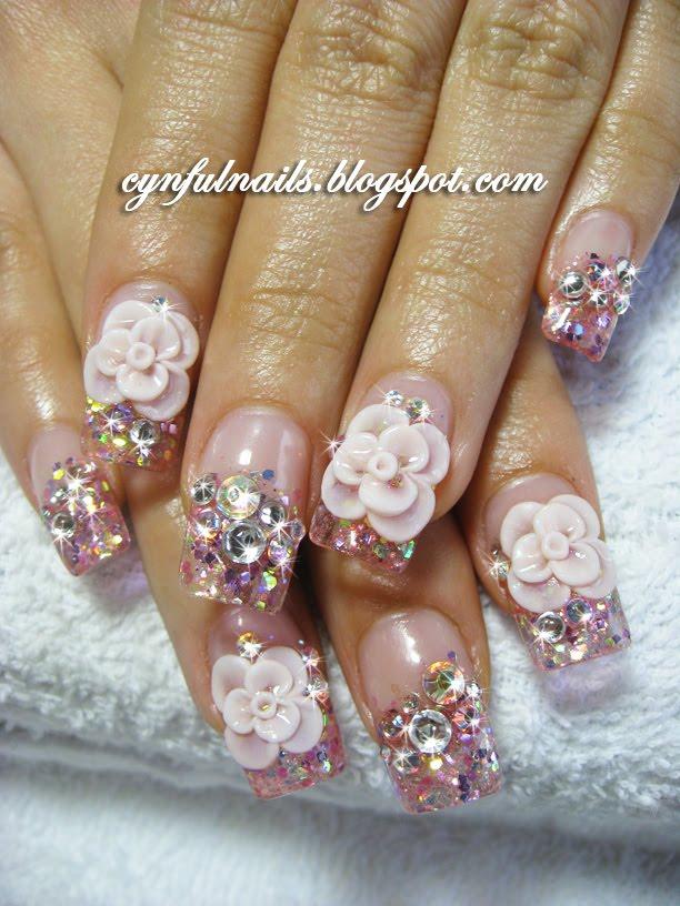 Cynful Nails: Bridal nails, flowers.