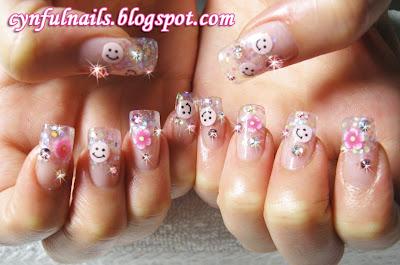smiley nail designs