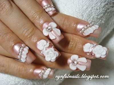 Cynful Nails: Bridal nails