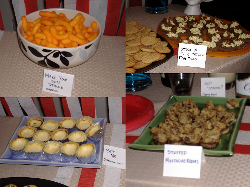 'Stache Bash food collage