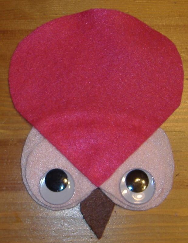 felt owl headpiece