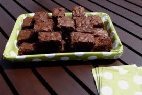 paper covered brownie tray
