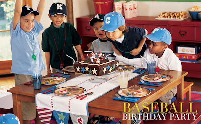 Pottery Barn Kids baseball party