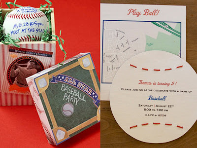 baseball party invite