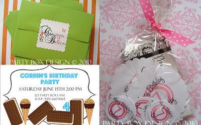 Party Box Design collage