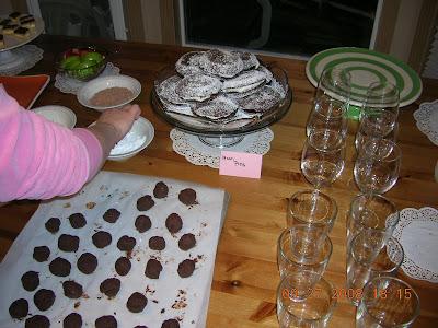 dessert party truffles