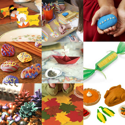Thanksgiving craft collage