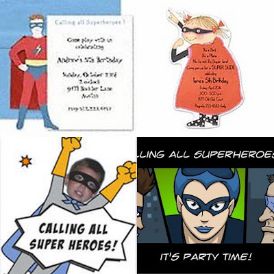 super hero party invites