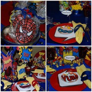 super hero table
