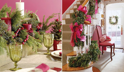 Pink Christmas decor