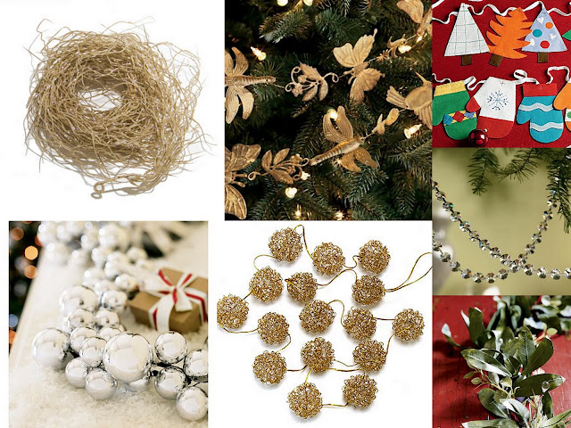 Christmas garland collage