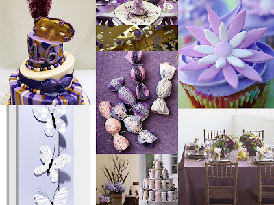 Lavender party collage