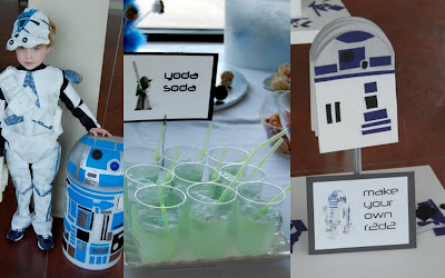 Star Wars party collage 2