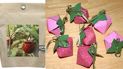 strawberry party favor collage