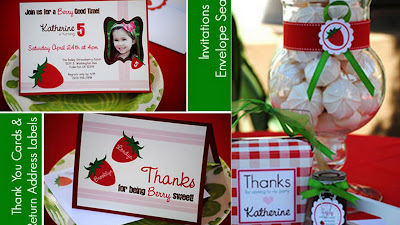 strawberry party collage 4