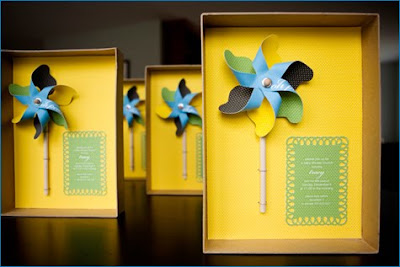pinwheel box invite