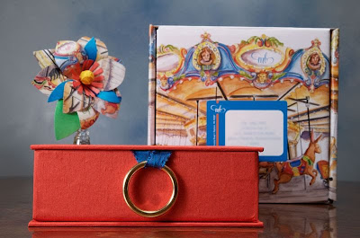 carousel box party invite
