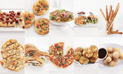 Real Simple pizza dough collage