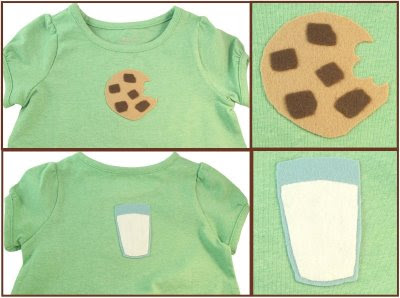 Milk and Cookies felt appliques