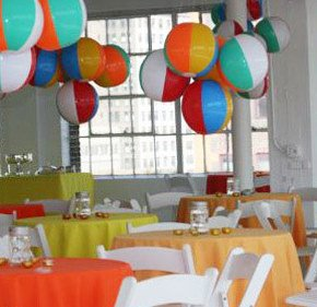 beach ball decor