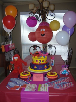 Abby Cadabby/Elmo party table
