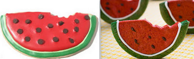 Watermelon cookie collage