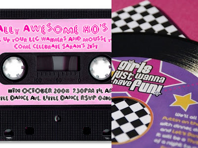 80s invite collage