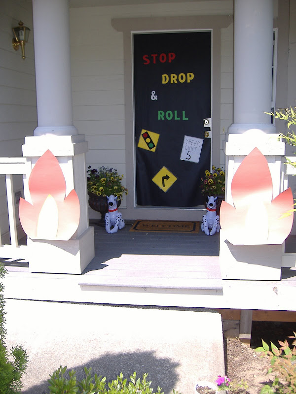 Stop Drop and Roll party door