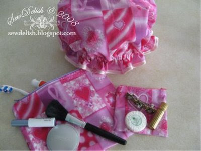 Breast Cancer Awareness pillow and cap craft