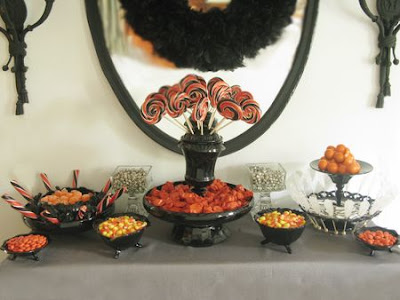 Eddie Ross black candy buffet