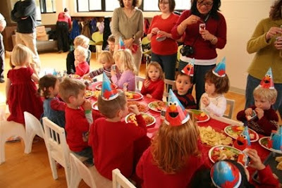 Elmo party table