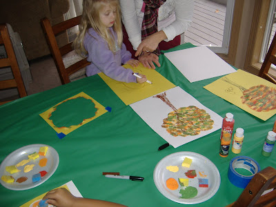 Harvest tree painting 2