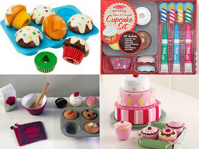 toy cupcake collage