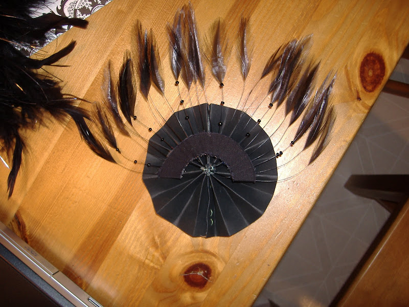 NYE hat accordian and feather
